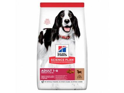 Hill's Canine Adult Medium jehněčí a rýže 18kg