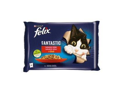 Kapisčka Felix Fantastic multipack králík+jehně v želé 4x85g
