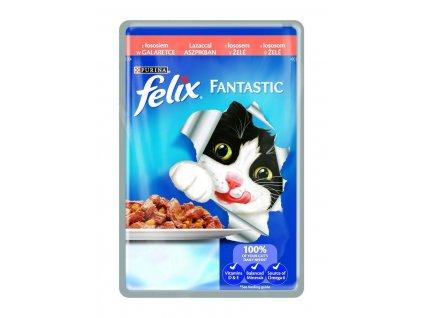 Felix Fantastic kapsička s lososem v želé 100g