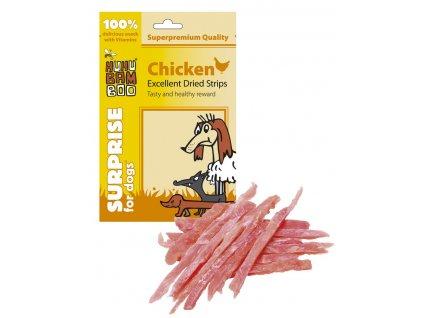 Huhubamboo Excellent - Sušené kuřecí proužky 75g (expirace: 24.8.2021)