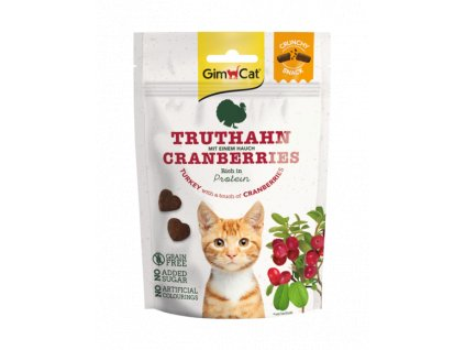 37581 gimcat crunchy snacks krocan s brusinkami 50g