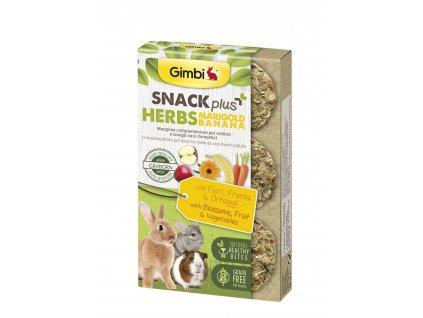 38280 gimbi snack plus bylinky marig banan 50 g