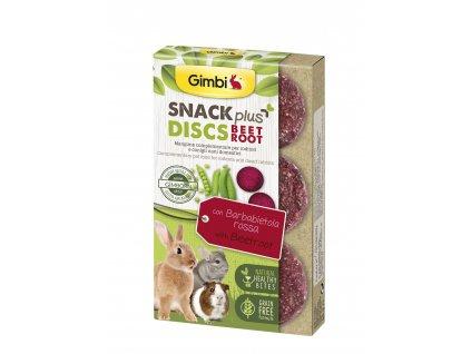 38283 gimbi snack plus discs cervena repa 50 g