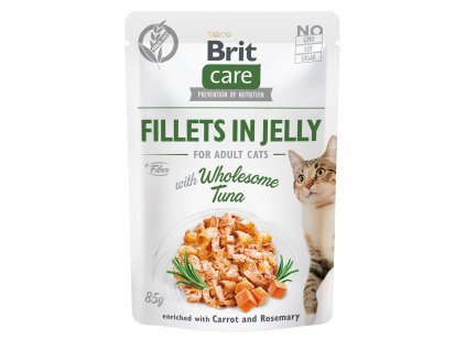 38439 brit care cat fillets in jelly with wholesome tuna 85 g