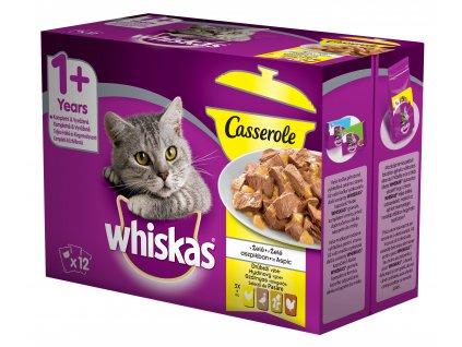 38490 kapsicka whiskas casserole multipack drubezi vyber v zele 12x85g