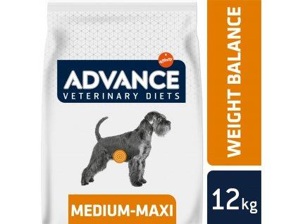 ADVANCE-VETERINARY DIETS Dog Weight Balance Medium/Maxi 12kg