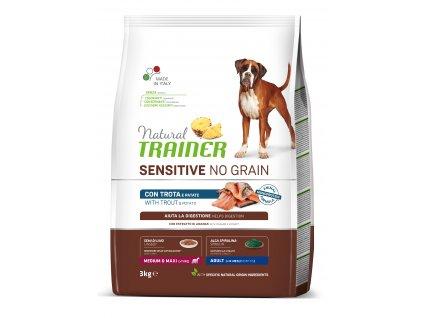 38811 trainer natural sensitive dog no grain medium maxi pstruh 3kg