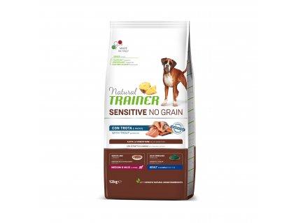 38814 trainer natural sensitive dog no grain m m pstruh 12kg