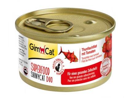 39690 konzerva shinycat duo superfood tunak s rajcaty 70g