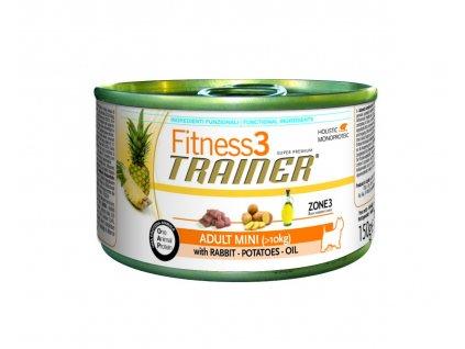 Trainer Fitness3 Adult Mini králík+brambory konzerva 150g