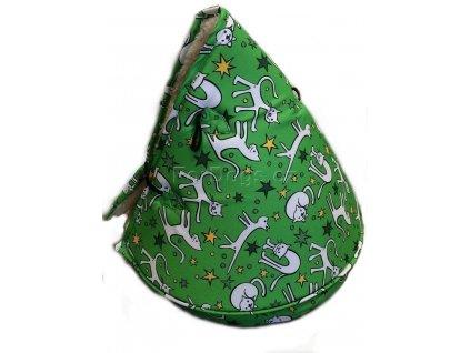 Huhubamboo teepee zelená kočka 50cm