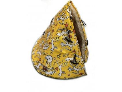Huhubamboo teepee žlutá kočka 50cm