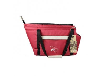 Huhubamboo taška bordó+béžová S