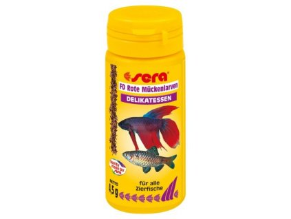 Sera červené komáří larvy FD Rote Mückenlarven (Red Bloodworms) 50ml