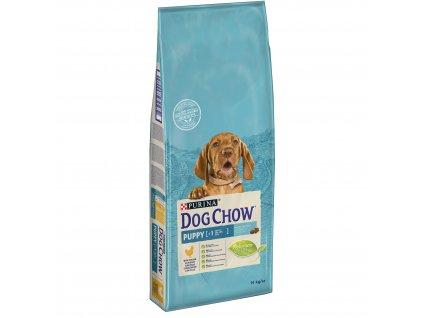 Dog Chow Puppy kuřecí s rýží 14kg (expirace: 28.2.2021)