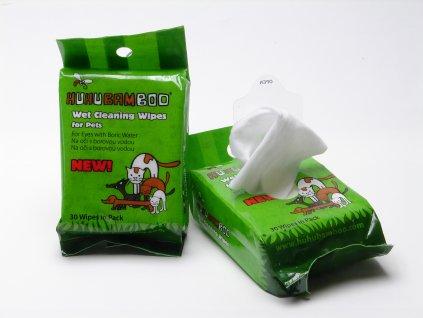 Huhubamboo čistící ubrousky na oči 30ks