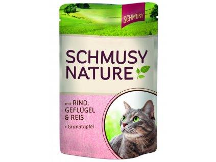 Finnern Schmusy Nature kapsička hovězí+drůbež 100g