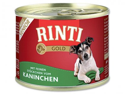 Finnern Rinti Gold Senior konzerva pro psy králík 185g
