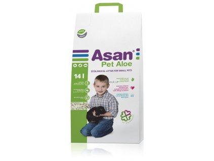 Asan Pet Aloe podestýlka pro hlodavce 14l (3kg)