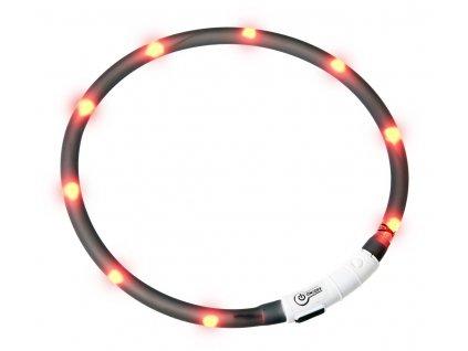 Karlie Visiolight svíticí LED obojek pro psy 70cm černý