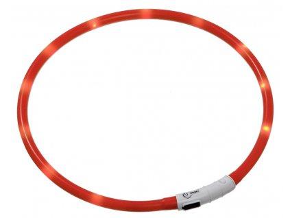 Karlie Visiolight svíticí LED obojek 35cm červený