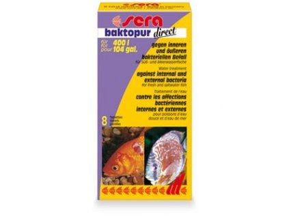 Sera antibakteriální tablety do akvárií Baktopur Direct 8tbl.