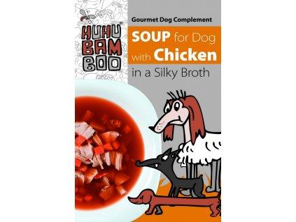 Huhubamboo polévka kuřecí pro psy 40g