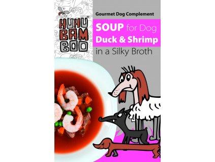 Huhubamboo polévka kachna+krevety pro psy 40g