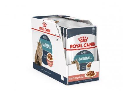 Royal Canin Hairball Care gravy ve šťávě 12x85g (expirace: 19.6.2021)