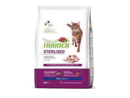 TRAINER Natural Cat Sterilised drůbeží maso 3kg