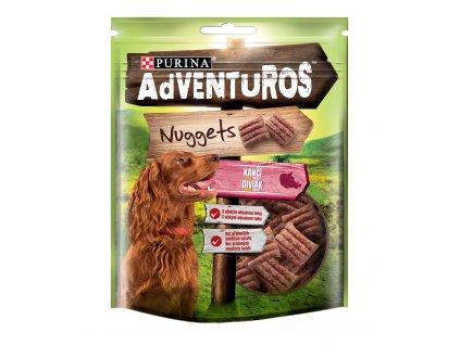 ADVENTUROS Snack Nuggets kančí 90g (expirace: srpen 2020)