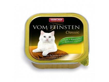 Animonda Vom Feinsten Classic paštika pro kočky krůta+králík 100g