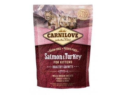 Carnilove Cat Grain Free Salmon&Turkey Kittens Healthy Growth 400g