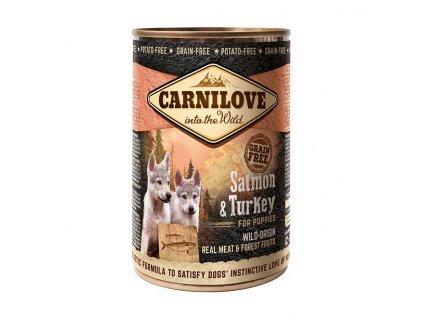 Konzerva Carnilove Wild Meat Salmon&Turkey Puppies 400g