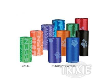 Trixie Sada 14 balíčků náhradních sáčků, barevné s packami 14x15ks