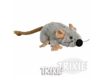 Trixie Plyšová myška šedá s catnipem 7 cm