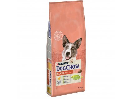 Purina Dog Chow Active Chicken 14 kg (expirace: 19.3.2021)