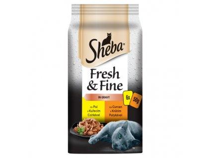 SHEBA MINI SHEBA Fresh & Fine Drůbeží výběr 6pack 300g