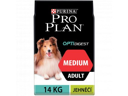 Purina Pro Plan Dog OptiDigest Medium Adult Sensitive Digestion jehně 14kg