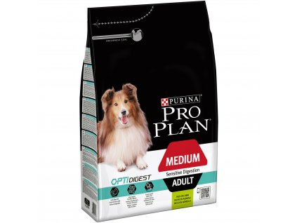 Purina Pro Plan Dog OptiDigest Medium Adult Sensitive Digestion jehně 3kg