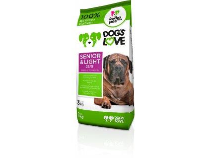 Dogs love Senior&light 3kg (expirace: srpen 2020)