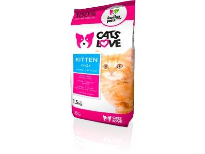 Cats love Kitten 1,5kg (expirace: září 2020)