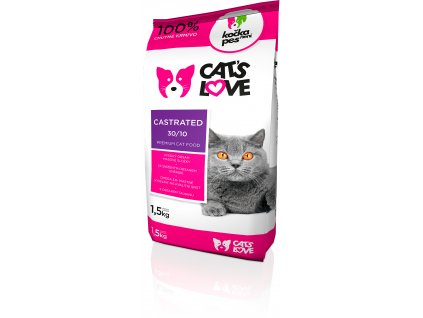 Cats love Castrated 1,5kg