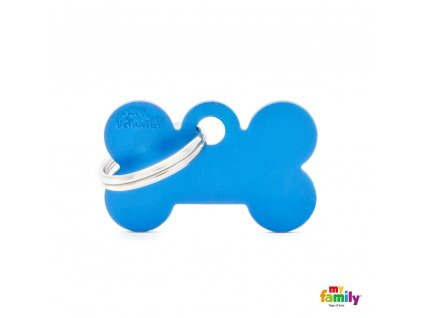 Známka Basic Allu kost malá modrá