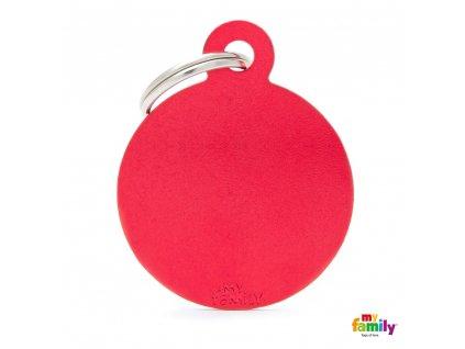 Známka Basic Allu kroužek velký červený
