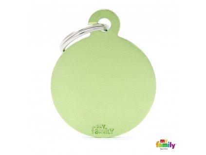 Známka Basic Allu kroužek velký zeleny