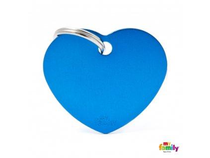 Známka Basic Allu srdíčko velke modre
