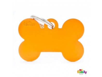 Známka Basic Alu - kost velká oranzova