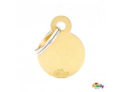 Známka Basic Alu - kroužek malý zlaty