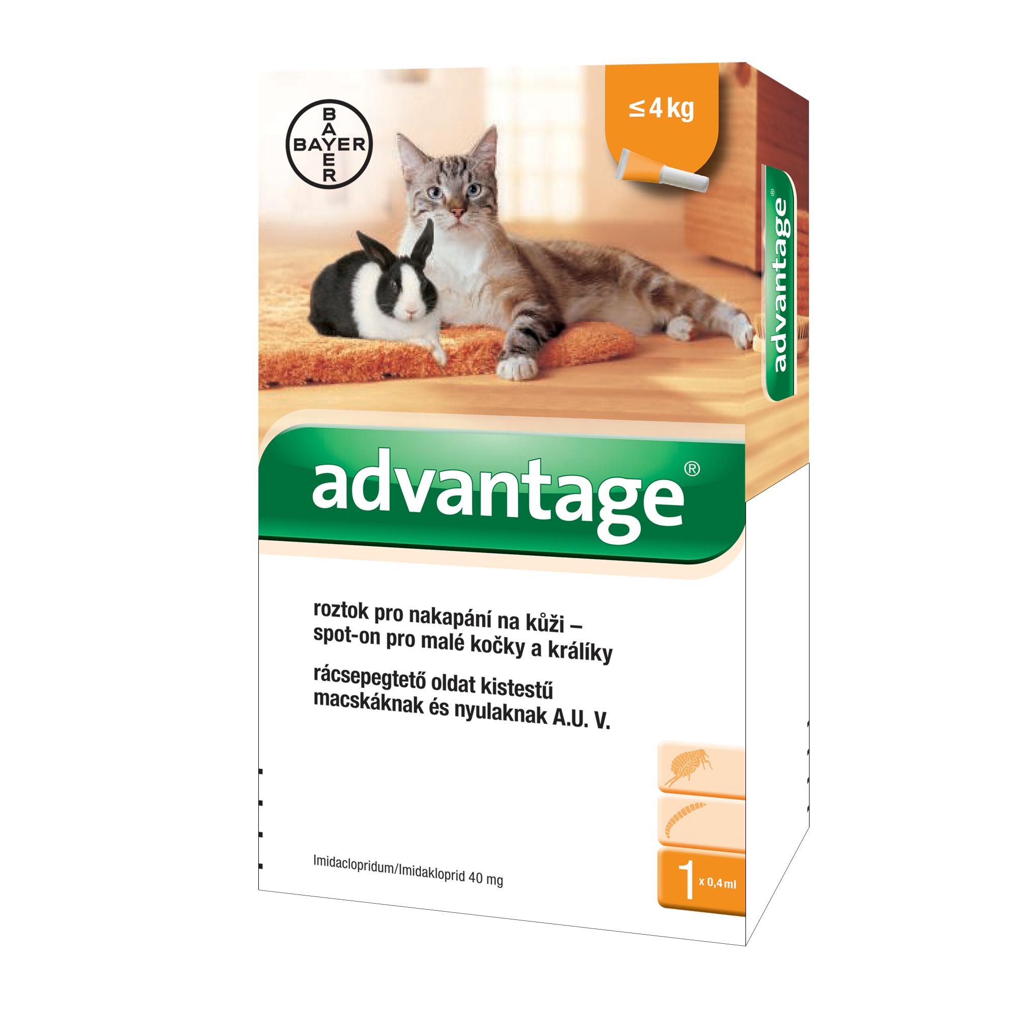 Advantage S.O. antip.kocka do 4kg 1x0,4ml